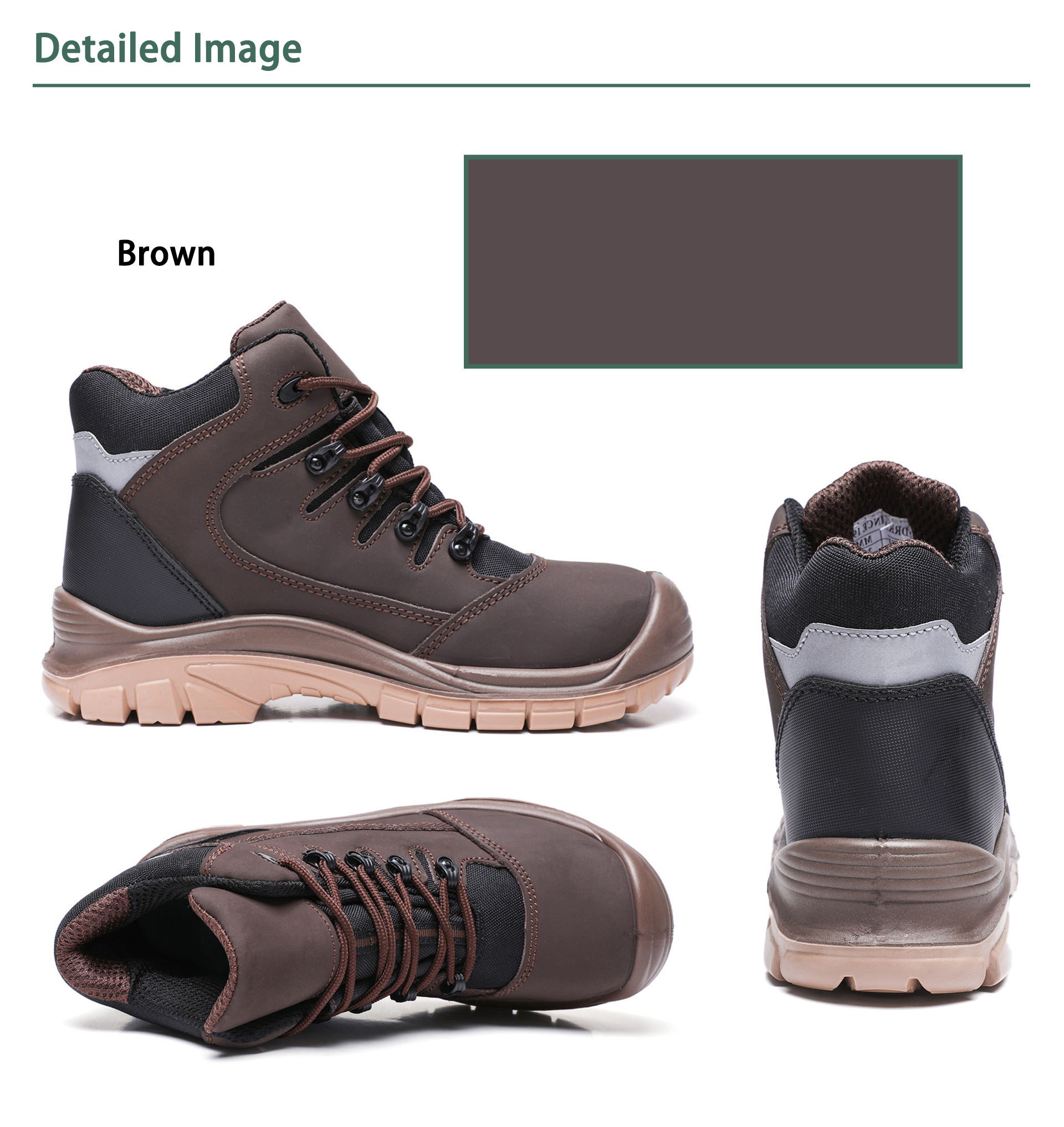 DRKA Mens Steel Toe Work Boots Water Resistant Safety Shoes Work & Safety  Fire & Safety
